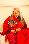 Billie Ruth Martin Hoff, Caddo Indian, Binger Nursing Home, Oklahoma, artist; senior, elder