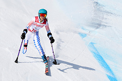 SCHWARTZ Melanie LW2 USA competing in the Para Alpine Skiing Downhill at the PyeongChang2018 Winter Paralympic Games, South Korea