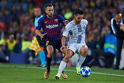 October 24, 2018 - Barcelona, Barcelona, Spain - Jordi Alba of FC Barcelona competes for the ball Jordi Alba of FC Barcelonaduring the UEFA Champions League group B match between FC Barcelona and FC Internazionale  at Camp Nou on October 24, 2018 in Barcelona, Spain  (Credit Image: © Sergio Lopez/NurPhoto via ZUMA Press)