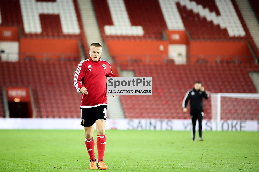 Jordy Clasie of Southampton Warms down after Southampton vs Aston Villa on Wednesday the 28th October 2015.