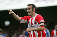 Photo: Lee Earle.<br /> Brentford v Bradford City. Coca Cola League 1. 02/09/2006. Brentford's Kevin O'Connor celebrates scoring their first.