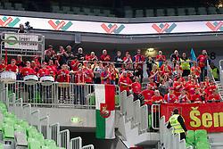 Supporters of KK Tajfun during basketball match between KK Union Olimpija Ljubljana and KK Tajfun in 22th Round of ABA League 2015/16, on January 30, 2016 in Arena Stozice, Ljubljana, Slovenia. Photo by Urban Urbanc / Sportida