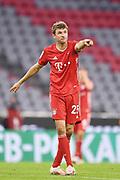 Thomas Mueller (Bayern), Gestik gestures during the Bayern Munich vs Eintracht Frankfurt, German Cup Semi-Final at Allianz Arena, Munich, Germany on 10 June 2020.