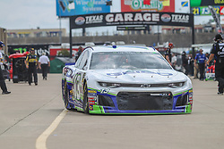 April 6, 2018 - Fort Worth, TX, U.S. - FORT WORTH, TX - APRIL 06: Monster Energy NASCAR Cup Series driver Ty Dillon (13) drives through the garage area during practice for the O'Reilly Auto Parts 500 on April 6, 2018 at Texas Motor Speedway in Fort Worth, Texas.  (Photo by George Walker/Icon Sportswire) (Credit Image: © George Walker/Icon SMI via ZUMA Press)