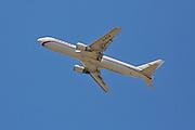 Israel, Ben-Gurion international Airport passenger jet at takeoff