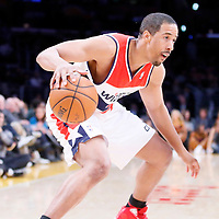 21 March 2014: Washington Wizards guard Andre Miller (24) dribbles during the Washington Wizards 117-107 victory over the Los Angeles Lakers at the Staples Center, Los Angeles, California, USA.