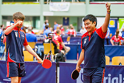 (Team FRA) CREANGE Lucas and Edouard and ZHAO Antoine in action during 15th Slovenia Open - Thermana Lasko 2018 Table Tennis for the Disabled, on May 11, 2018 in Dvorana Tri Lilije, Lasko, Slovenia. Photo by Ziga Zupan / Sportida