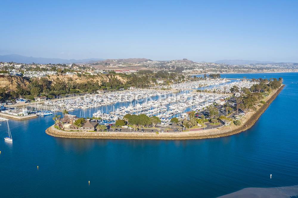 Aerial View of Dana Point Harbor Looking South
