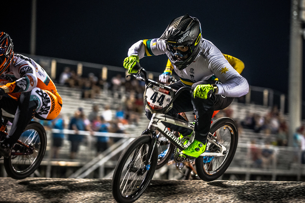 #44 (DEAN Anthony) AUS [Formula, Shimano, TLD] at Round 7 of the 2019 UCI BMX Supercross World Cup in Rock Hill, USA