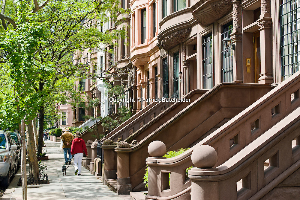 Brownstone buildings manhattan photography of new york for Nyc upper west side apartments