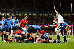 Wales Prop Samson Lee is awared a try - Mandatory byline: Rogan Thomson/JMP - 07966 386802 - 20/09/2015 - RUGBY UNION - Millennium Stadium - Cardiff, Wales - Wales v Uruguay - Rugby World Cup 2015 Pool A.