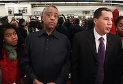 25 December 2009- Harlem, NY- l to r: Rev. Al Sharpton and Govenor David Patterson at Rev. Al Sharpton & The National Action Network's Annual Christmas Dinner and Toy Giveaway held at The National Action Network Headquarters in Harlem, USA on Decemeber 25, 2009 in New York City.