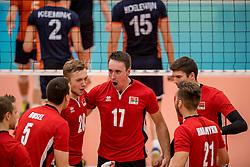 24-09-2016 NED: EK Kwalificatie Nederland - Wit Rusland, Koog aan de Zaan<br /> Nederland verliest de eerste twee sets / Pavel Kuklinski, Maksim Marozau #17