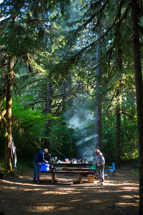 Salmon Creek Falls campground. Oakridge, Oregon.