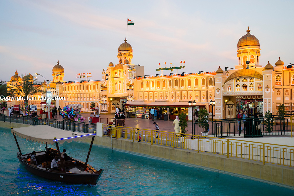 India pavilion at Global Village tourist cultural attraction in Dubai United Arab Emirates