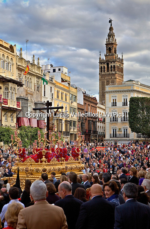Plaza de San Francisco.Holy Week procession.`La Sed´.Holy Wednesday. Seville. Spain