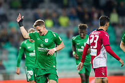 Andres Vombergar, Lukas Horvat during football match between NK Olimpija Ljubljana and Aluminij in Round #9 of Prva liga Telekom Slovenije 2018/19, on September 23, 2018 in Stozice Stadium, Ljubljana, Slovenia. Photo by Morgan Kristan