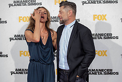 Image &copy;Licensed to i-Images Picture Agency. 16/07/2014. Madrid, Spain. Actress Keri Russell and Actor Andy Serkis attends the 'Dawn Of The Planets Of The Apes' premiere at Capitol Cinema. Picture by DyD Fotografos / i-Images<br /> SPAIN OUT