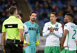 December 26, 2018 - Rome, Italy - Piero Giacomelli, Andrea Consigli, Mauricio Lemos during the Italian Serie A football match between A.S. Roma and Sassuolo at the Olympic Stadium in Rome, on december 26, 2018. (Credit Image: © Silvia Lore/NurPhoto via ZUMA Press)