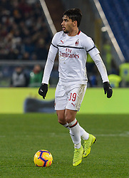 February 3, 2019 - Italy - Lucas Paqueta during the Italian Serie A football match between A.S. Roma and A.C. Milan at the Olympic Stadium in Rome, on february 03, 2019. (Credit Image: © Silvia Lore/NurPhoto via ZUMA Press)