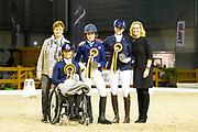 Nicole den Dulk, Lotte Krijnsen, Marin Haentjens Kirkels, Jeannette Wolfs<br /> Indoor Brabant 2017<br /> © DigiShots