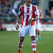 Stoke City F.C. Midfielder STEVEN N'ZONZI (15) gestures disappointment in the first half a MLS regular season international friendly match against the Philadelphia Union Tuesday, July. 30, 2013 at PPL Park in Chester PA.