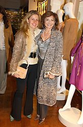 Left to right, LADY FORTE and DORIT MOUSSAIEFF wife of the President of Iceland at a party hosted by Elizabeth Saltzman and Harvey Nichols to celebrate the UK launch of New York fashion designer Tory Burch held at the Fifth Floor Restaurant, Harvey Nichols, Knightsbridge, London on 24th May 2006.<br /><br />NON EXCLUSIVE - WORLD RIGHTS