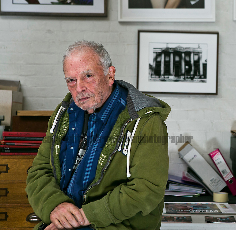Photographer David Bailey at his studio.<br />