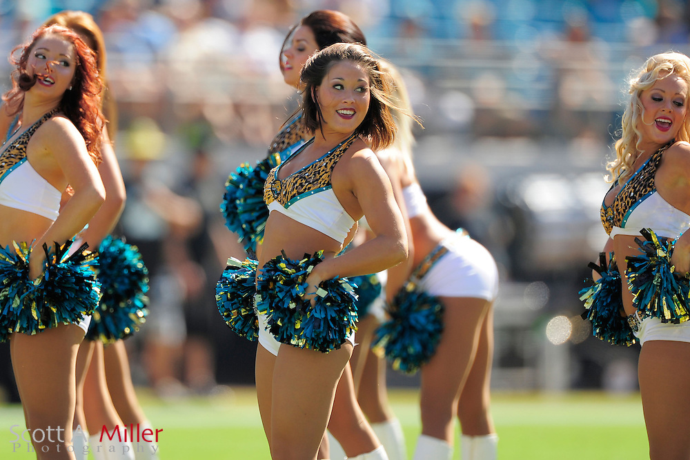 Jacksonville Jaguars cheerleaders during the Jags' 31-14 loss to the Detroit Lions at EverBank Field on November 4, 2012 in Jacksonville, Florida. ..©2012 Scott A. Miller..