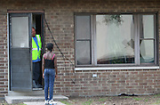 Makyla Nelson, 10, was looking for her neighbor to play with when she was turned away by an EPA contractor cleaning her friends apartment  at the West Calumet Housing Complex in East Chicago.