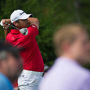 August 23, 2014: Jason Day (AUS) tee's off on the 14th hole during the third round of The Barclays Fed Ex  Championship at Ridgewood Country Club in Paramus, NJ. Mandatory Credit:  Kostas Lymperopoulos/csm  (Credit Image: © Kostas Lymperopoulos/Cal Sport Media)