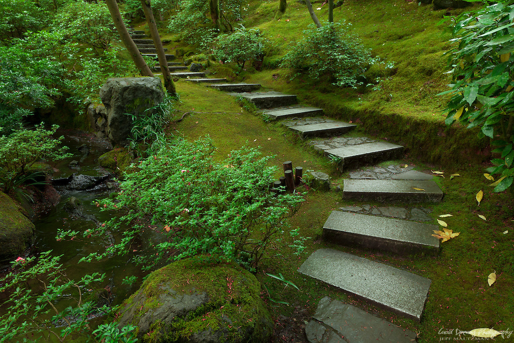 Steps at the Portland Japanese Garden, Portland, Oregon