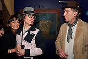 ADAM ANT; ROBERT PERENO, Showing of Jubilee. Society film club, Sanctum Soho Hotel. celebrating Robert PerenoÕs birthday and the official launch of The Society Film Club on the Rooftop bar of the Sanctum. -DO NOT ARCHIVE-© Copyright Photograph by Dafydd Jones. 248 Clapham Rd. London SW9 0PZ. Tel 0207 820 0771. www.dafjones.com.<br /> ADAM ANT; ROBERT PERENO, Showing of Jubilee. Society film club, Sanctum Soho Hotel. celebrating Robert Pereno's birthday and the official launch of The Society Film Club on the Rooftop bar of the Sanctum. -DO NOT ARCHIVE-© Copyright Photograph by Dafydd Jones. 248 Clapham Rd. London SW9 0PZ. Tel 0207 820 0771. www.dafjones.com.