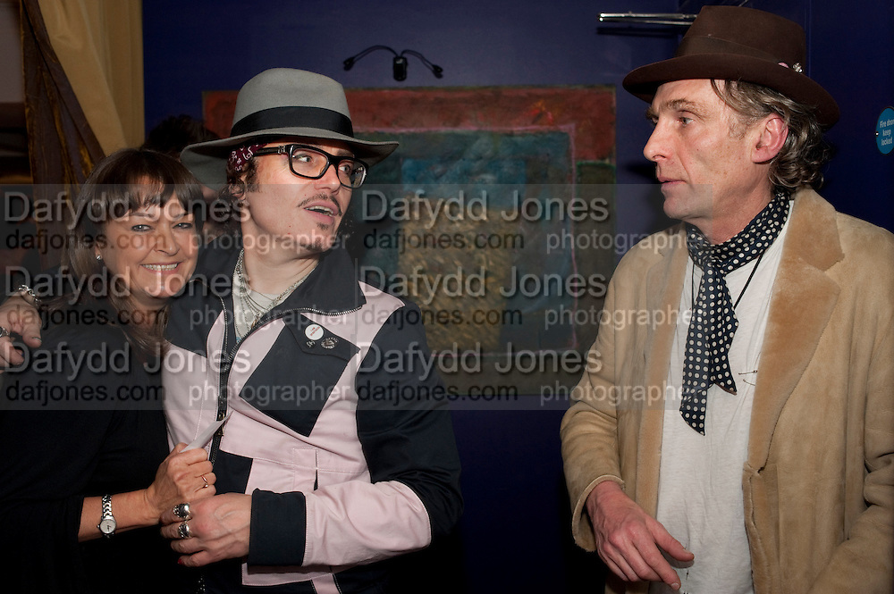 ADAM ANT; ROBERT PERENO, Showing of Jubilee. Society film club, Sanctum Soho Hotel. celebrating Robert PerenoÕs birthday and the official launch of The Society Film Club on the Rooftop bar of the Sanctum. -DO NOT ARCHIVE-© Copyright Photograph by Dafydd Jones. 248 Clapham Rd. London SW9 0PZ. Tel 0207 820 0771. www.dafjones.com.<br /> ADAM ANT; ROBERT PERENO, Showing of Jubilee. Society film club, Sanctum Soho Hotel. celebrating Robert Pereno's birthday and the official launch of The Society Film Club on the Rooftop bar of the Sanctum. -DO NOT ARCHIVE-© Copyright Photograph by Dafydd Jones. 248 Clapham Rd. London SW9 0PZ. Tel 0207 820 0771. www.dafjones.com.