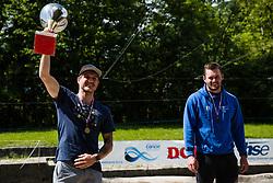 Peter Kauzer during trophy ceremony of Kayak Single (K1) Men race of Tacen Cup 2020 on May 24, 2020 in Tacen, Ljubljana, Slovenia. Photo By Grega Valancic / Sportida