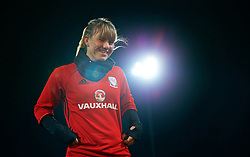 SAINT PETERSBURG, RUSSIA - Sunday, October 22, 2017: Wales' Gemma Evans during a training session at the Petrovsky Minor Sport Arena ahead of the FIFA Women's World Cup 2019 Qualifying Group 1 match between Russia and Wales. (Pic by David Rawcliffe/Propaganda)