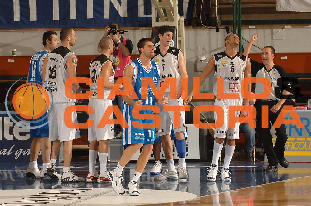 DESCRIZIONE : Ferrara Lega A2 2007-08 Final Four Coppa Italia Carife Ferrara Banco di Sardegna Sassari <br /> GIOCATORE : Luigi Dordei<br /> SQUADRA : Banco di Sardegna Sassari<br /> EVENTO : Campionato Lega A2 2007-2008 <br /> GARA : Carife Ferrara Banco di Sardegna Sassari <br /> DATA : 01/03/2008 <br /> CATEGORIA : Esultanza<br /> SPORT : Pallacanestro <br /> AUTORE : Agenzia Ciamillo-Castoria/M.Gregolin