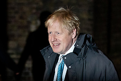 © Licensed to London News Pictures. 07/01/2019. London, UK. Former Foreign and Commonwealth Secretary Boris Johnson arriving in Downing Street to attend a drinks reception in Number 10. British Prime Minister Theresa May is currently trying to persuade MPs to back her Brexit withdrawal deal. MPs will be debating the issue this week, with the postponed vote taking place on Tuesday 15th January. Photo credit : Tom Nicholson/LNP