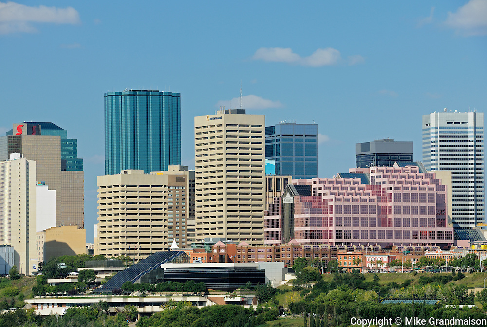 Edmonton skyline looking westerly, northwesterly<br /> Edmonton<br /> Alberta<br /> Canada