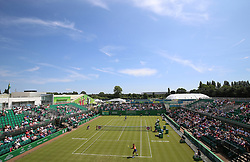 A general view of action on centre court between Japan's Naomi Osaka and USA's Sachia Vickery during day one of the Nature Valley Open at Nottingham Tennis Centre.