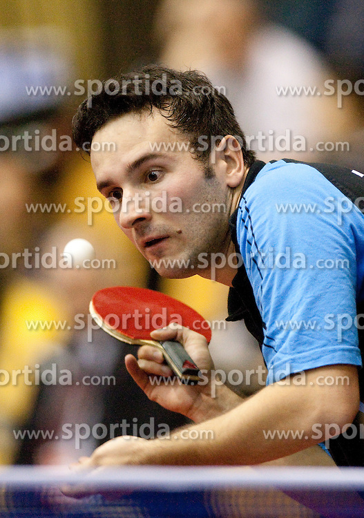 Bojan Tokic of Slovenia during Men 1st Round of 11th International Slovenia Open 2010 table tennis tournament, on January 21, 2010 at Red hall in Velenje, Slovenia. (Photo by Vid Ponikvar / Sportida)