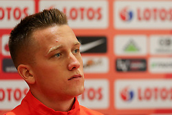 August 31, 2017 - Copenhagen, Denmark - Piotr Zielinski (POL), during press conference before FIFA World Cup 2018 qualifier MD-1 between Denmark and Poland at Parken Stadium in Copenhagen, Denmark on 31 August 2017. (Credit Image: © Foto Olimpik/NurPhoto via ZUMA Press)