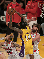 November 21, 2017 - Los Angeles, California, United States of America - Brandon Ingram #14 of the Los Angeles Lakers goes for a shot during their game with the Chicago Bulls on Tuesday November 21, 2017 at the Staples Center in Los Angeles, California. Lakers defeat Bulls, 103-94. JAVIER ROJAS/PI (Credit Image: © Prensa Internacional via ZUMA Wire)