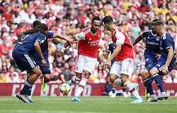 Pierre-Emerick Aubameyang of Arsenal with the ball in the area trying to create a chance - Mandatory by-line: Arron Gent/JMP - 28/07/2019 - FOOTBALL - Emirates Stadium - London, England - Arsenal v Olympique Lyonnais - Emirates Cup