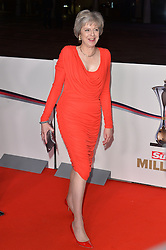 © Licensed to London News Pictures. 14/12/2016. British Prime Minister THERESA MAY attends The Sun newspaper Millies Military Awards 2016 at Guildhall <br />