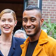 NLD/Amsterdam/20150713 - AFW2015 Summer, Modeshow  Maria Clè Leal, Doutzen Kroes en partner Sunnery James