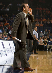 Vermont head coach Mike Lonergan..The Virginia Cavaliers men's basketball team defeated the Vermont Catamounts 90-72 at the John Paul Jones Arena in Charlottesville, VA on November 11, 2007.