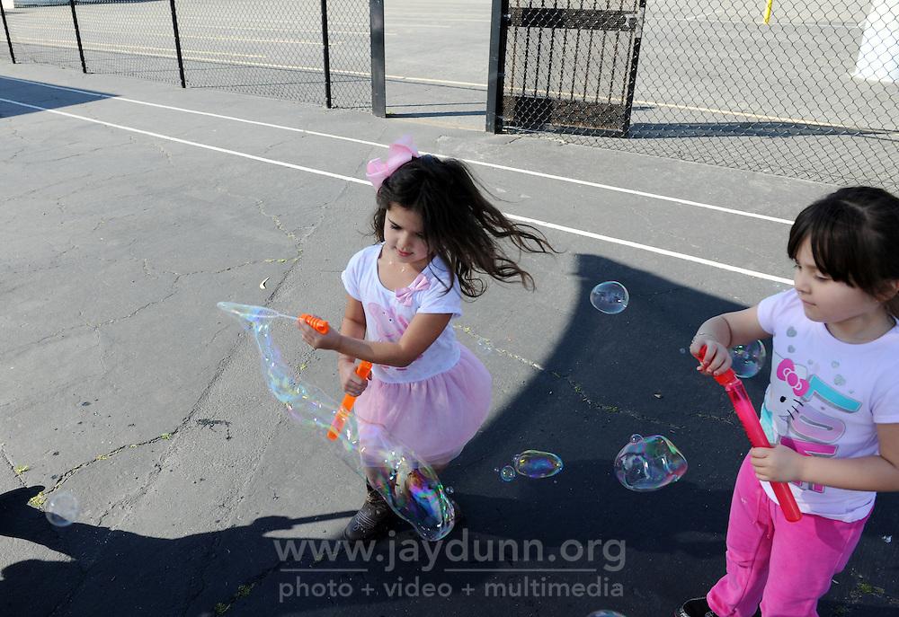 Kids play during recess at Loma Vista Elementary School in Salinas, CA.