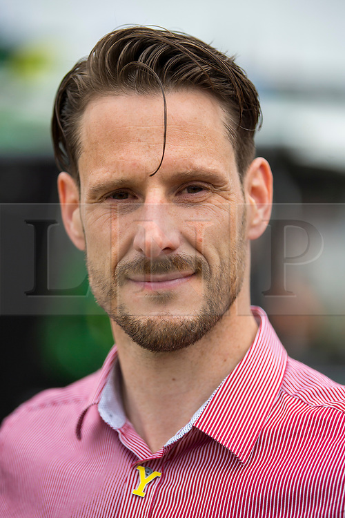 © Licensed to London News Pictures. 12/07/2018. Harrogate UK. Neil Campbell has today announced that he will attempt to break the world cycling speed record of 166.9mph. Neil set a new European cycling speed record of 135mph last month at Elvington airfield in Yorkshire. The announcement was made this morning at the Great Yorkshire show in Harrogate. Photo credit: Andrew McCaren/LNP