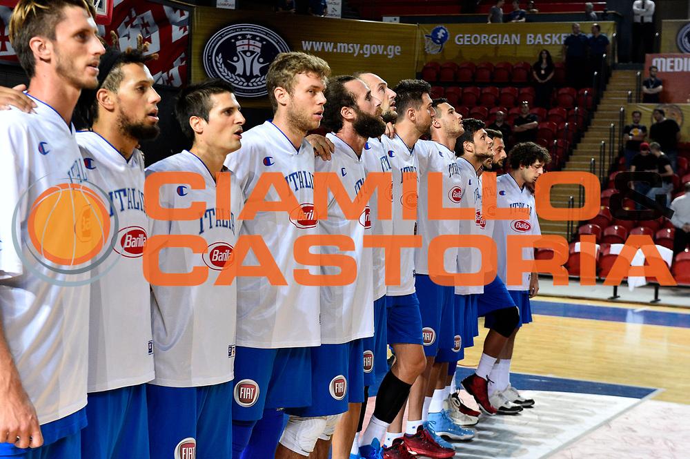 DESCRIZIONE : Tbilisi Nazionale Italia Uomini Tbilisi City Hall Cup Italia Italy Lettonia Latvia<br /> GIOCATORE : team<br /> CATEGORIA : presentazione pregame before<br /> SQUADRA : Italia Italy<br /> EVENTO : Tbilisi City Hall Cup<br /> GARA : Italia Lettonia Italy Latvia<br /> DATA : 14/08/2015<br /> SPORT : Pallacanestro<br /> AUTORE : Agenzia Ciamillo-Castoria/GiulioCiamillo<br /> Galleria : FIP Nazionali 2015<br /> Fotonotizia : Tbilisi Nazionale Italia Uomini Tbilisi City Hall Cup Italia Italy Lettonia Latvia